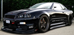 Nissan - Skyline, check out all the carbon fiber.