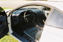 1996 Eclipse drivers side interior picture 5 speed stick - leather