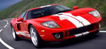 Ford GT - 550 HP supercharged, red with white stripes