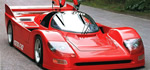 Koenig C62 - Koenig's C62 is a conversion based on original Porsche 962 chassis, in red.